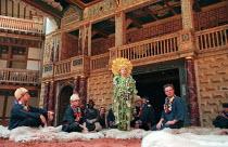 THE WINTER'S TALE by Shakespeare design: Tom Phillips director: David Freeman ~~centre: Anna-Livia Ryan (Perdita)~Shakespeare's Globe (SG), London SE1   06/1997                 ~(c) Donald Cooper/Phot...