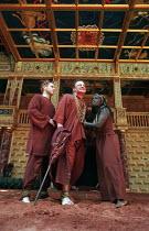 THE WINTER'S TALE by Shakespeare design: Tom Phillips director: David Freeman centre: Mark Lewis Jones (Leontes)  right: Joy Richardson (Paulina) Shakespeare's Globe (SG), London SE1   05/06/1997...