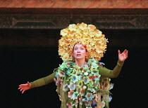 THE WINTER'S TALE by Shakespeare design: Tom Phillips director: David Freeman Anna-Livia Ryan (Perdita)Shakespeare's Globe (SG), London SE1   05/06/1997                 (c) Donald Cooper/Photostage...