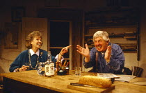 DANGER: MEMORY!  by Arthur Miller  design: Sue Plummer  lighting: Mick Hughes  director: Jack Gold Betsy Blair (Leonora), Paul Rogers (Leo)Hampstead Theatre, London NW3  06/04/1988        (c) Donald C...