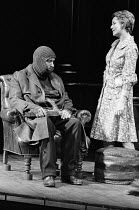 A SLIGHT ACHE  by Harold Pinter  design: John Bury  lighting: Stuart Leviton  director: Peter James Peter Schofield (The Matchseller), Peggy Ashcroft (Flora)a Royal Shakespeare Company (RSC) productio...