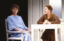 OTHER PLACES  by Harold Pinter:  A KIND OF ALASKA  design: Eileen Diss  director: Kenneth Ives l-r: Dorothy Tutin (Deborah), Susan Engel (Pauline)Duchess Theatre, London WC2  07/03/1985(c) Donald Coop...