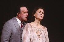 OTHER PLACES  by Harold Pinter: ONE FOR THE ROAD  design: Eileen Diss  director: Kenneth Ives Colin Blakely (Nicolas), Rosie Kerslake (Gila) Duchess Theatre, London WC2  07/03/1985(c) Donald Cooper/Ph...
