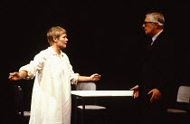 OTHER PLACES  by Harold Pinter:  A KIND OF ALASKA  design & lighting: John Bury  director: Peter Hall <br> ~Judi Dench (Deborah), Paul Rogers (Hornby)~Cottesloe Theatre, National Theatre (NT), London...
