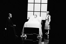 OTHER PLACES  by Harold Pinter:  A KIND OF ALASKA  design & lighting: John Bury  director: Peter Hall <br>  l-r: Paul Rogers (Hornby), Judi Dench (Deborah), Anna Massey (Pauline)  Cottesloe Theatre,...