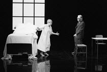OTHER PLACES  by Harold Pinter: A KIND OF ALASKA  design & lighting: John Bury  director: Peter Hall <br> ~Judi Dench (Deborah), Paul Rogers (Hornby)~Cottesloe Theatre, National Theatre (NT), London S...
