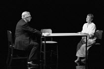 OTHER PLACES  by Harold Pinter: A KIND OF ALASKA  design & lighting: John Bury  director: Peter Hall <br> ~Paul Rogers (Hornby), Judi Dench (Deborah)~Cottesloe Theatre, National Theatre (NT), London S...