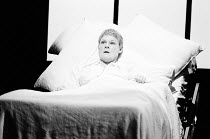 OTHER PLACES  by Harold Pinter:  A KIND OF ALASKA  design & lighting: John Bury  director: Peter Hall <br> ~Judi Dench (Deborah) ~Cottesloe Theatre, National Theatre (NT), London SE1  13/10/1982~(c) D...