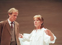 3 by Pinter: A KIND OF ALASKA  by Harold Pinter  design: Tom Rand  lighting: Robert Bryan  director: Karel Reisz Bill Nighy (Hornby), Penelope Wilton (Deborah) Donmar Warehouse, London WC2  13/05/1998...