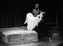 Sharon Gurney (Desdemona), Jack Good (Othello) in CATCH MY SOUL - The Rock Othello  after Shakespeare  devised by Jack Good  music: Ray Pohlman & Emil Dean Zoghby  design: Malcolm Pride  lighting: Joh...