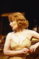 CAT ON A HOT TIN ROOF  by Tennessee Williams  design: William Dudley  lighting: Mark Henderson  director: Howard Davies   Lindsay Duncan (Margaret)  Lyttelton Theatre, National Theatre (NT), London SE...