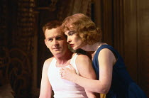 CAT ON A HOT TIN ROOF  by Tennessee Williams  design: William Dudley  lighting: Mark Henderson  director: Howard Davies   Ian Charleson (Brick), Lindsay Duncan (Margaret)  Lyttelton Theatre, National...