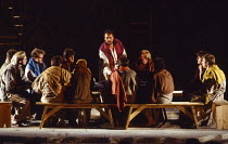THE YORK MYSTERY PLAYS  adapted by Andrew Wickes  design: Tim Reed  lighting: Davy Cunningham  director: Steven Pimlott  The Last Supper - centre: Victor Banerjee (Jesus)York Minster, York, England  1...