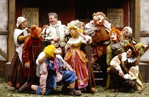 BARTHOLOMEW FAIR  by Ben Jonson  design: Patrick Robertson & Rosemary Vercoe  puppets: Graeme Galvin  director: Peter Barnes rear left: Christopher Biggins (Bartholomew Cokes) Open Air Theatre, Regent...