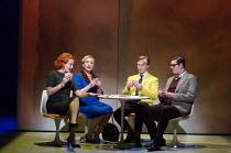 l-r: Eleanor Dennis (Laura Fleet), Sasha Cooke (Marnie), James Laing (Terry Rutland), Matthew Durkan (Malcolm Fleet) in MARNIE opening at English National Opera (ENO), London Coliseum, WC2 on 18/11/20...