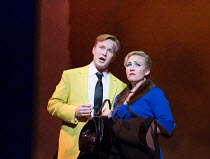 James Laing (Terry Rutland), Sasha Cooke (Marnie) in MARNIE opening at English National Opera (ENO), London Coliseum, WC2 on 18/11/2017     after the novel by Winston Graham  a co-commission with Metr...