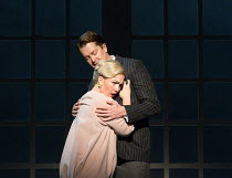Sasha Cooke (Marnie), Daniel Okulitch (Mark Rutland) in MARNIE opening at English National Opera (ENO), London Coliseum, WC2 on 18/11/2017     after the novel by Winston Graham  a co-commission with M...