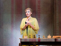 Sasha Cooke (Marnie) in MARNIE opening at English National Opera (ENO), London Coliseum, WC2 on 18/11/2017     after the novel by Winston Graham  a co-commission with Metropolitan Opera, New York  mus...