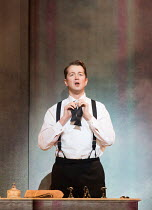 Daniel Okulitch (Mark Rutland) in MARNIE opening at English National Opera (ENO), London Coliseum, WC2 on 18/11/2017     after the novel by Winston Graham  a co-commission with Metropolitan Opera, New...