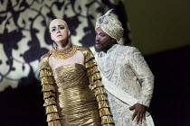 Jacquelyn Stucker (Azema), Lawrence Brownlee (Idreno) in SEMIRAMIDE by Gioachino Rossini opening at the The Royal Opera, Covent Garden, London WC2 on 19/11/2017  a co-production with Bavarian State Op...