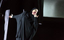final scene, mortally wounded: Joyce DiDonato (Semiramide) in SEMIRAMIDE by Gioachino Rossini opening at the The Royal Opera, Covent Garden, London WC2 on 19/11/2017  a co-production with Bavarian Sta...