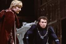 RICHARD III by Shakespeare design: William Dudley lighting: Leo Leibovici director: Bill Alexander <br> l-r: Malcolm Storry (Duke of Buckingham), Antony Sher (Richard III) Royal Shakespeare Theatre,...