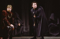 RICHARD III by Shakespeare design: William Dudley lighting: Leo Leibovici director: Bill Alexander <br> l-r: Malcolm Storry (Duke of Buckingham), Antony Sher (Richard III) Royal Shakespeare Company...