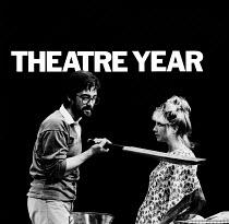 THEATRE YEAR 1983, first published in November 1983. ISBN 0950757837. Paperback, 9'x9' / 23cm x 23cm, 120pp. Containing 123 B&W photographs by Donald Cooper of 98 theatre productions in London and Str...