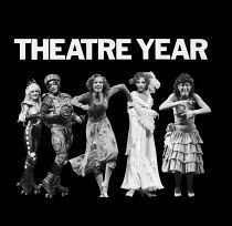 THEATRE YEAR 1984, first published in November 1984. ISBN 0950757845. Paperback, 9'x9' / 23cm x 23cm, 120pp. Containing 111 B&W photographs by Donald Cooper of 95 theatre productions in London and Str...