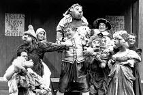 BARTHOLOMEW FAIR  by Ben Jonson  design: Patrick Robertson & Rosemary Vercoe  puppets: Graeme Galvin  director: Peter Barnes centre: Christopher Biggins (Bartholomew Cokes) Open Air Theatre, Regent's...
