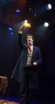 Marcus Brigstocke (P. T. Barnum) in BARNUM opening at the Menier Chocolate Factory, London SE1 on 05/12/2017   music: Cy Coleman lyrics: Michael Stewart book: Mark Bramble design: Paul Farnsworth hai...