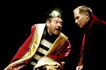 RICHARD III  by Shakespeare  design: Christopher Oram  lighting: Tim Mitchell  director: Michael Grandage   Richard orders the death of the Princes - l-r: Kenneth Branagh (Richard III), Danny Webb (Bu...
