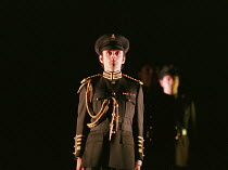 HENRY V  by Shakespeare  design: Ashley Martin-Davies  lighting: Peter Mumford  director: Ron Daniels      Michael Sheen (King Henry V) Royal Shakespeare Company (RSC), Royal Shakespeare Theatre, S...