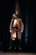 THE SPANISH TRAGEDY  by Thomas Kyd  design: Tom Piper  lighting: Robert Bryan  director: Michael Boyd  Tristan Sturrock (Horatio) Royal Shakespeare Company (RSC), Swan Theatre, Stratford-upon-Avon, En...
