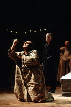 Gerard Murphy (Oedipus) in OEDIPUS AT COLONUS by Sophocles at the Swan Theatre, Royal Shakespeare Company (RSC), Stratford-upon-Avon, England  25/10/1991     part ii of THE THEBANS  in a new translat...