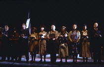 THE AMERICAN CLOCK by Arthur Miller inspired by 'Hard Times' by Studs Terkel set design: Timothy O'Brien costumes & properties: Stephen Lewis lighting: Robert Bryan director: Peter Wood ~companyCottes...