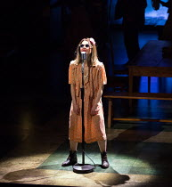 'Like a Rolling Stone' - Shirley Henderson (Elizabeth Laine) in GIRL FROM THE NORTH COUNTRY by Conor McPherson opening at the Noel Coward Theatre, London WC2 on 11/01/2018   an Old Vic July 2017 produ...