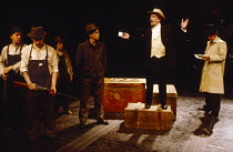 THE AMERICAN CLOCK by Arthur Miller inspired by 'Hard Times' by Studs Terkel set design: Timothy O'Brien costumes & properties: Stephen Lewis lighting: Robert Bryan director: Peter Wood  In Iowa Cott...