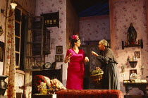 THE ROSE TATTOO by Tennessee Williams design: Alison Chitty lighting: Mark Henderson director: Peter Hall ~l-r: Julie Walters (Serafina Delle Rose), Matyelok Gibbs (Assunta)The Peter Hall Company / Pl...