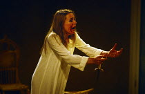 THE MAID'S TRAGEDY by Beaumont & Fletcher design: Judith Bland lighting: Leo Leibovici director: Barry Kyle  Sinead Cusack (Evadne) Royal Shakespeare Company (RSC), The Other Place, Stratford-upon-Avo...