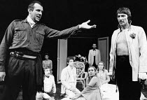 THE MAID'S TRAGEDY by Beaumont & Fletcher design: Judith Bland lighting: Leo Leibovici director: Barry Kyle  front left: Tom Wilkinson (Melantius) right: John Carlisle (King) * Lo-res scan for refere...