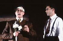 'TIS PITY SHE'S A WHORE by John Ford design: Kenny Miller director: David Leveaux ~l-r: Richard Bonneville (Bergetto), Guy Henry (Poggio)~Royal Shakespeare Company (RSC), Swan Theatre, Stratford-upon-...