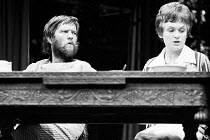 THE NORMAN CONQUESTS - TABLE MANNERS  by Alan Ayckbourn  design: Alan Pickford  lighting: Nick Chelton  director: Eric Thompson <br> Tom Courtenay (Norman), Bridget Turner (Ruth)  * Lo-res scan for...