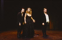 WOMEN BEWARE WOMEN by Thomas Middleton adapted & completed by Howard Barker design: Kandis Cook lighting: Andy Phillips director: William Gaskill  l-r: Gary Oldman (Sordido), Maggie Steed (Livia), Si...