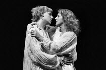 WOMEN BEWARE WOMEN by Thomas Middleton adapted & completed by Howard Barker design: Kandis Cook lighting: Andy Phillips director: William Gaskill  Stevan Rimkus (Leantio), Maggie Steed (Livia)Royal C...