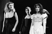 WOMEN BEWARE WOMEN by Thomas Middleton adapted & completed by Howard Barker design: Kandis Cook lighting: Andy Phillips director: William Gaskill  l-r: Maggie Steed (Livia), Melanie Hill (Isabella),...