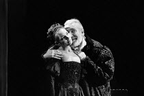 WOMEN BEWARE WOMEN by Thomas Middleton adapted & completed by Howard Barker design: Kandis Cook lighting: Andy Phillips director: William Gaskill  Joanne Whalley (Bianca), Nigel Davenport (Duke of Fl...