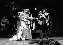 THE NEW INN by Ben Jonson design: Sue Blane lighting: Wayne Dowdeswell director: John Caird front: Deborah Findlay (Prudence), Mike Dowling (Latimer)Royal Shakespeare Company (RSC), Swan Theatre, Stra...