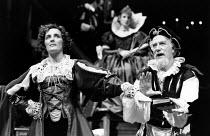 THE NEW INN by Ben Jonson design: Sue Blane lighting: Wayne Dowdeswell director: John Caird ~Fiona Shaw (Lady Frampul), Joseph O'Conor (Goodstock) Royal Shakespeare Company (RSC), Swan Theatre, Stratf...