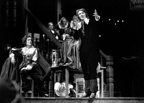 THE NEW INN by Ben Jonson design: Sue Blane lighting: Wayne Dowdeswell director: John Caird front left: Fiona Shaw (Lady Frampul) right: John Carlisle (Lovel) Royal Shakespeare Company (RSC), Swan The...